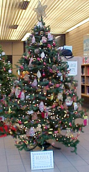 Russian Christmas Tree at Glendale Library